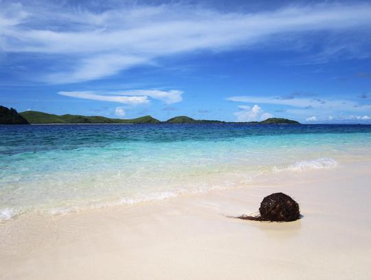 pohled k našemu ostrovu