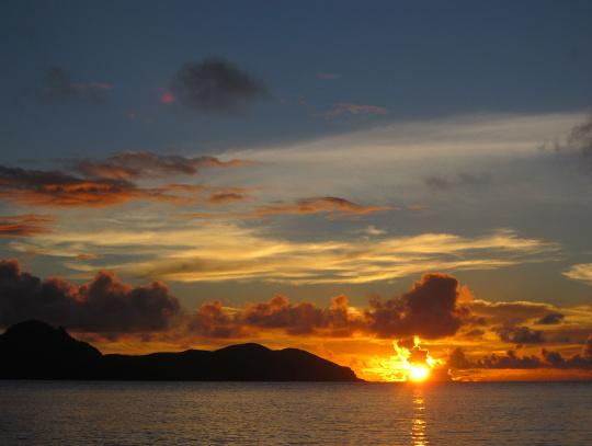 slunce na moři
