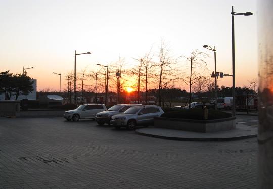 západ slunce v Koreji