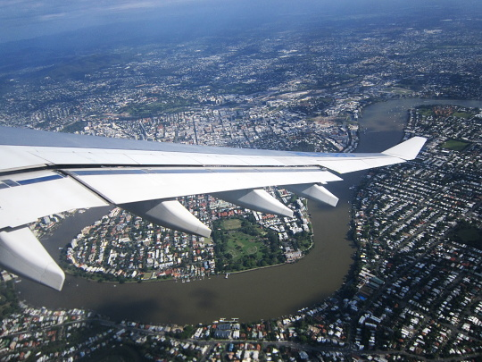 Brisbane z letadla