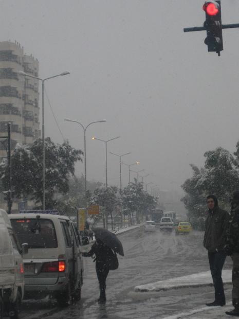 Když v Damašku neobvyklé bylo jen to sněžení...